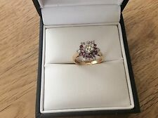 9ct Gold Rubies & Diamonds ring size K
