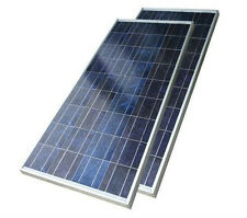 2 x 65W Polycrystalline Solar Panels total 130W for 12V charging ship from USA