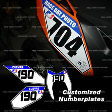 numberplate decals sticker for ktm 690smc 690 motard