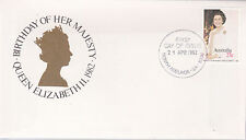 1982 Birthday of Her Majesty Queen Elizabeth II FDC - North Adelaide 5000 PMK