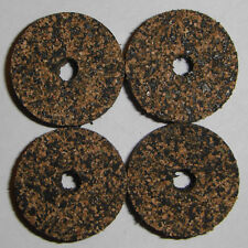 """4 Black Mix Spotted Rubberized Rubber Cork Rings 1 1/4"""" D x 1/2"""" H x 1/4"""" I.D."""