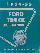 54 55 FORD TRUCK SHOP MANUAL-ALL MODELS-F100 THRU F900
