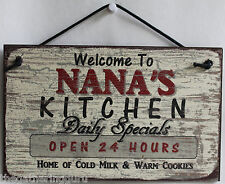 Sign Nana s Kitchen Food Cooking Bake Grandma Love Cookies Family Cute Made USA