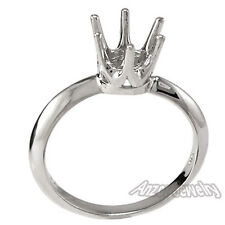 Knife Edge Engagement Ring Setting 14K Solid Gold  Ring Sizes 4 to 9.5 #R1070