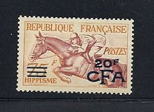 REUNION 1954 Scott 300 20F on 75F equestrian VF MH