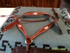 Headstall, Breast Collar Show Set Diamond Design Inlay Crystal Pattern