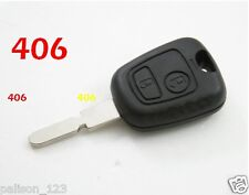 for peugeot 406 car key remote compatible fob case 2 buttons and blank