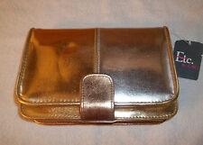 "Ladies  GOLD/SILVER Clutch Handbag Purse NWT 5"" X 8"" LONG SHOULDER STRAP"