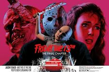 "FRIDAY THE 13th PART 4 THE FINAL CHAPTER repro quad poster 30x40""  FREE P&P"