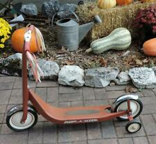 """VINTAGE 1970's RADIO FLYER MODEL 38 CLASSIC """"RETRO RED"""" SCOOTER w/CHROME FENDERS"""