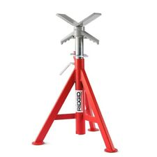 RIDGID V-head Low Pipe Stand Portable Sturdy Holds 2500 Lbs 20 - 38 in