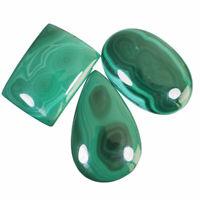 272.25 Cts/3 Pcs Natural Malachite AAA Finest Green Cabochon Gemstones 36mm-44mm