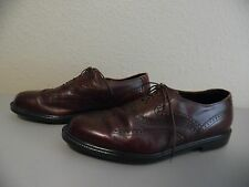 HUSH PUPPIES BOUNCE Men's Brown Leather Wing Tip Shoes BOUNCE Soles Size 10M