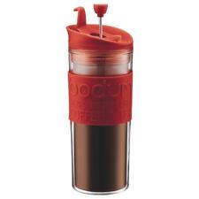 BODUM Travel French Press Coffeemaker Tea Maker Red Silicone BPA Free NEW!
