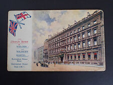 Vintage Postcard-Church Army. Sailors & Soldiers Hostel. Buckingham Palace (332)
