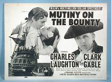 Mutiny on the Bounty R1951 MGM Title Lobby Card Clark Gable Charles Laughton