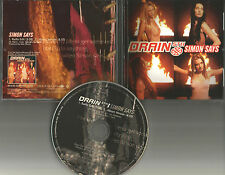 DRAIN STH Simon Says RARE INCORRECT TRACK LISTING PROMO Radio DJ CD single 1999