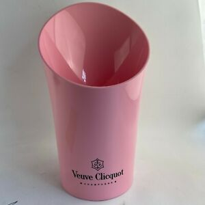 """VEUVE CLICQUOT PINK ROSE CHAMPAGNE 15"""" ACRYLIC ICE BUCKET MAGNUM NEW"""