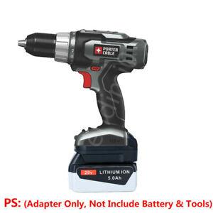 BLACK&DECKER 20V Slider Li-ion Battery to PORTER-CABLE 18V Cordless Tool Adapter