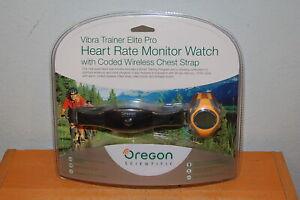 Oregon Scientific Vibra Trainer Elite Pro Heart Rate Monitor Watch Chest w Strap