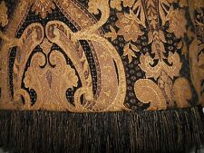 NEW Luxury Designer HEAVY 2 PEICE Throw/Runner Quality Fabrication $449 Blk Gold
