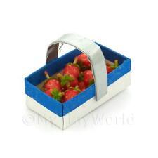 Fatto A Mano Miniatura Per Casa Delle Bambole Cestino Con 12 Fragole