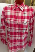 Current Elliott Shirt Red And White Plaid Cotton Size 1