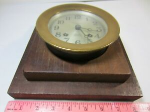 1926 CHELSEA Automatic SHIP'S BELL CLOCK Working Strike RARE EARLY Boston Yacht