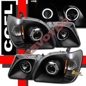 Black G3 Super Bright Halo Projector Headlights RH + LH For 98-07 Lexus LX470