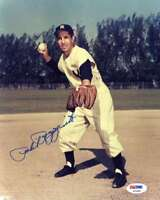 Phil Rizzuto Psa Dna Coa Hand Signed 8x10 Photo  Authentic Autograph