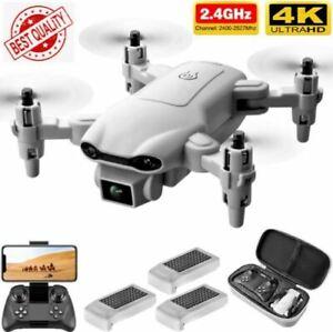 2021 Mini 4K HD Dual Camera RC Drone Wide Angle Two Batteries WIFI FPV Foldable