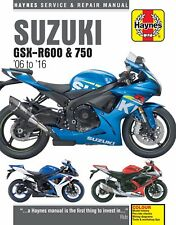 Suzuki Gsx-r 600 U2 2006 Haynes Service Repair Manual 4790