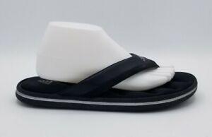 Adidas Mens Fit Foam Black Soft Comfort Footbed Flip Flop Thong Sandals Size 9