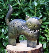KATZEN WINDLICHT Katze Laterne Leuchter Kerzenständer Katzenwindlicht Dekokatze