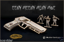 The Walking Dead Inspired Rubber Band Gun, Wooden Toys For Boys Gift For Husband