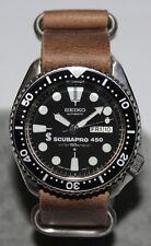 SEIKO Vintage 6309-7290 Scubapro 450 Classic Diver Watch Automatic Leather Strap