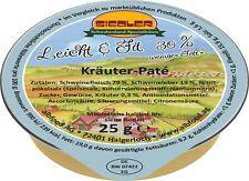 (23,98€/kg) Siedler »leicht&fit« Kräuter-Pâté 20x25g Wurst albfood Portionen