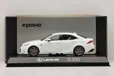 Kyosho 1/43 Voiture Miniature Lexus Is 350 F Sport Blanc Nova Gf. Japon 193781