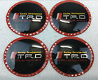 4Pcs 65mm Wheel Center Hub Cap Alloy Emblem Sticker Badge Decal For TRD Racing
