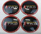 4Pcs 65mm Wheel Center Hub Cap Alloy Emblem Sticker Badge Decal For TRD Racing