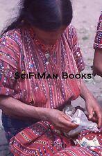 Vintage 35mm Slide Guatemala Market Scene Pretty Woman Costume Fashion 1970s!!!