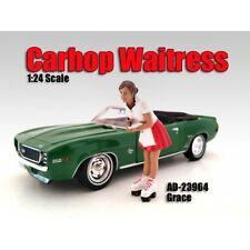 CARHOP WAITRESS GRACE FIGURE 1:24 MODEL BY AMERICAN DIORAMA 23964
