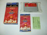 Disney's Aladdin Boxed with Manual Nintendo Super Famicom SFC Japan import
