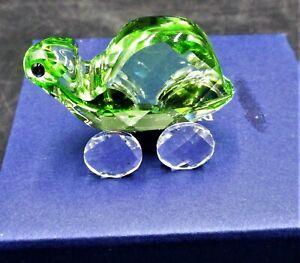 Swarovski Crystal Theo the Green Tortoise  Turtle Figurine