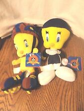 Looney Tunes Tweety Skater & Baseball Plush Lot of 2 with Tag
