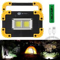 USB COB LED Arbeitsleuchte Aufladbar Lampe Außenstrahler Camping Fluter Akku