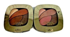 2 L'Oréal Paris Colour Riche Eyeshadow Quad #240 TREASURED BRONZE #300 ROSE NUDE