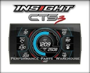 EDGE INSIGHT CTS3 DIGITAL GAUGE DISPLAY MONITOR Fits 1996-UP OBD2 VEHICLES