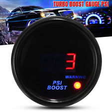 2'' 52mm Digital Car Red Blue LED Turbo Boost Psi Pressure Vacuum Pointer Gauge