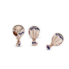 Pandora ROSE Charm Bead 788055ENMX Blue Hot Air Balloon S925 ALE R